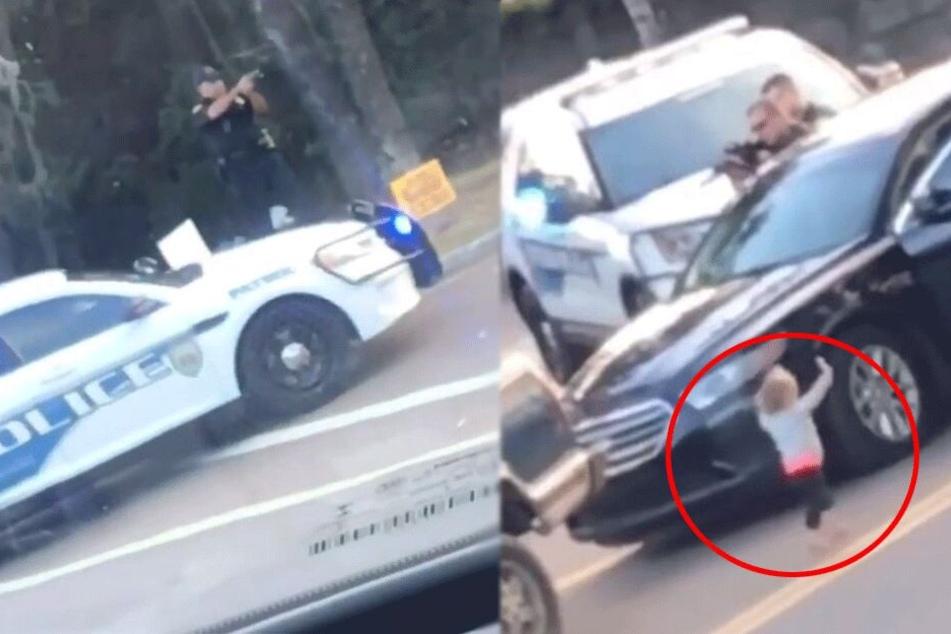 Tragischer Hintergrund: Zweijährige läuft barfuß mit erhobenen Händen auf bewaffnete Polizisten zu