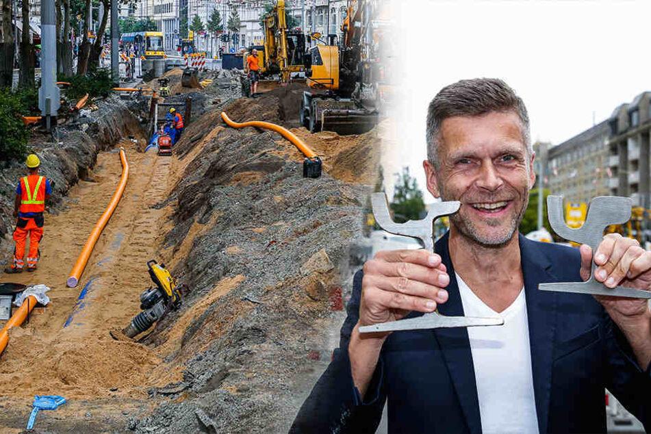 Bauarbeiten auf der Bautzner Straße: Jetzt gibt es eine gute Nachricht