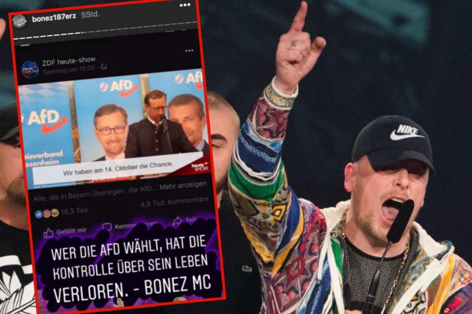 Bei Instagram rief Bonez MC dazu auf, wählen zu gehen - und zwar nicht die AfD.