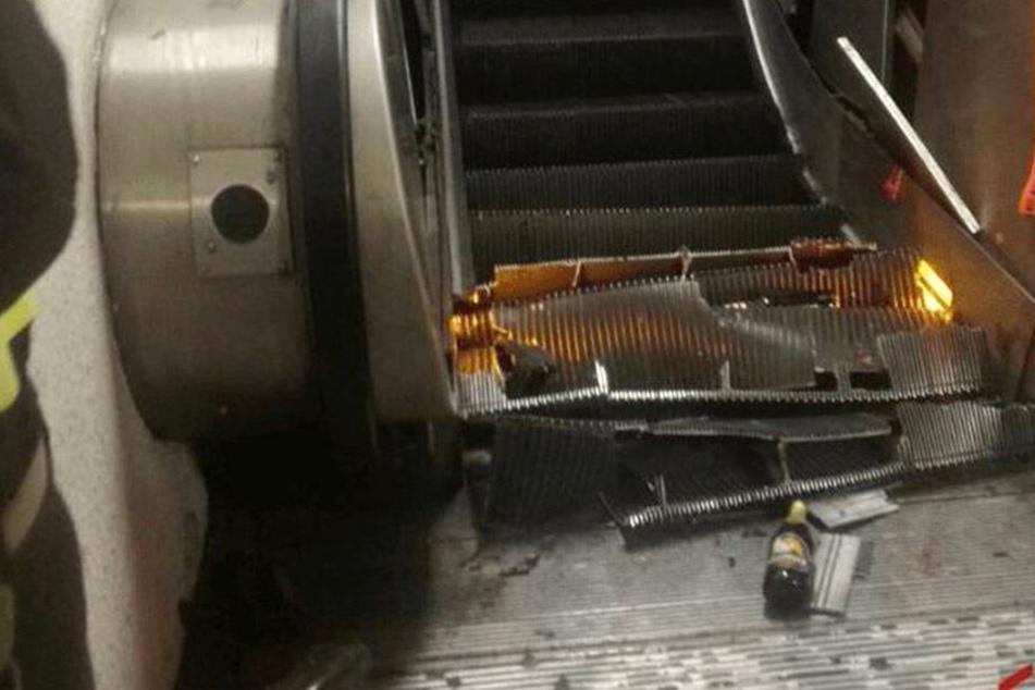 In der Station Repubblica ist eine Rolltreppe eingestürzt.