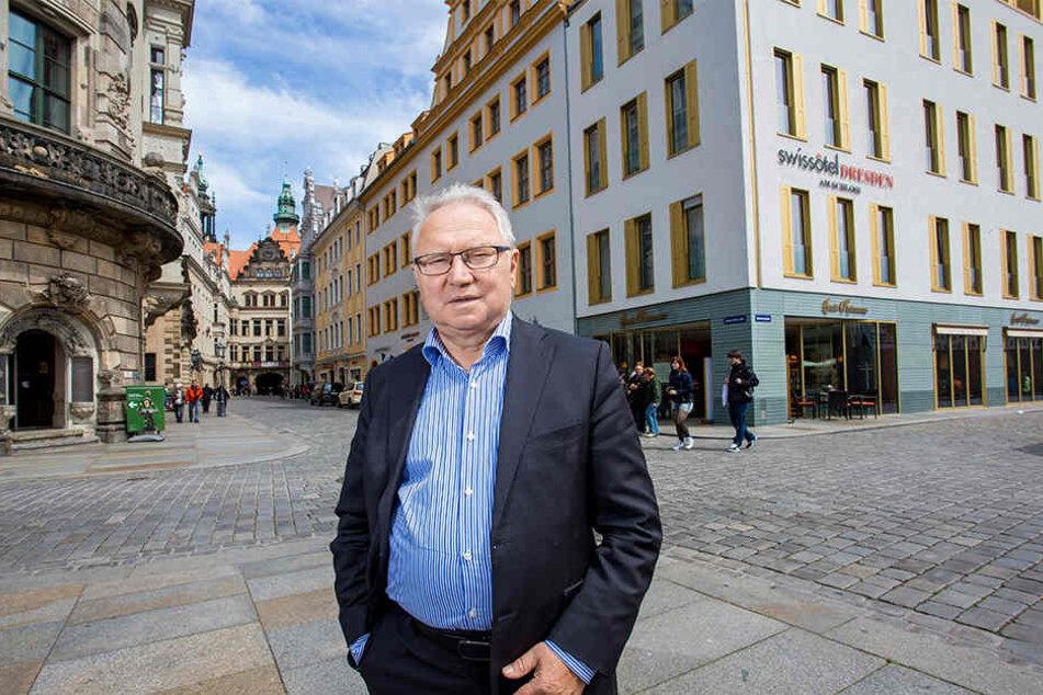 Berndt Dietze (74), Chef der Baywobau, errichtete das Hotelgebäude an der  Schlosstraße im Jahr 2012.
