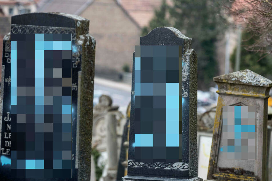 Jüdische Grabsteine mit Hakenkreuzen beschmiert