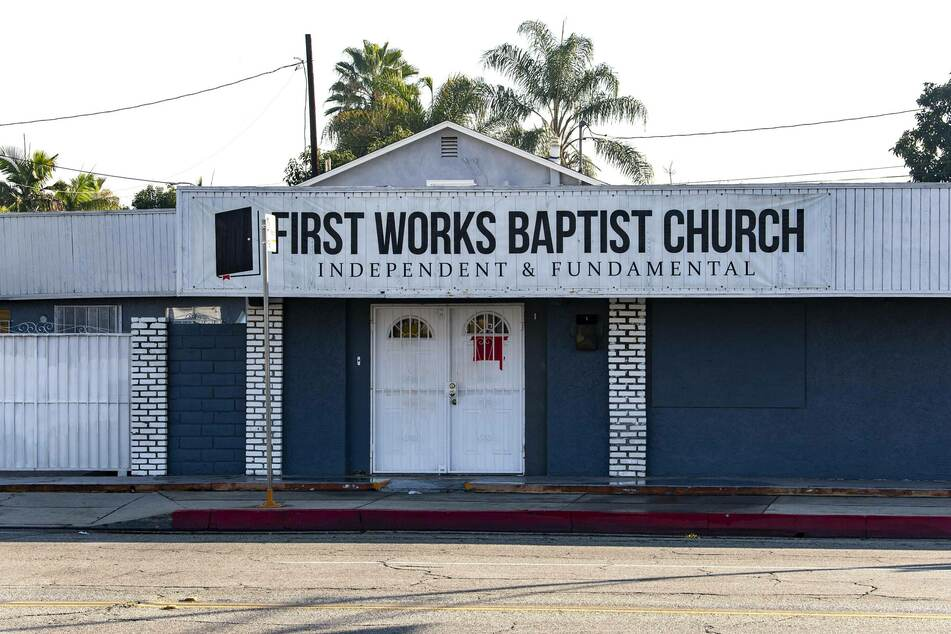 The windows of First Works Baptist Church in El Monte were blown out due to an explosion.