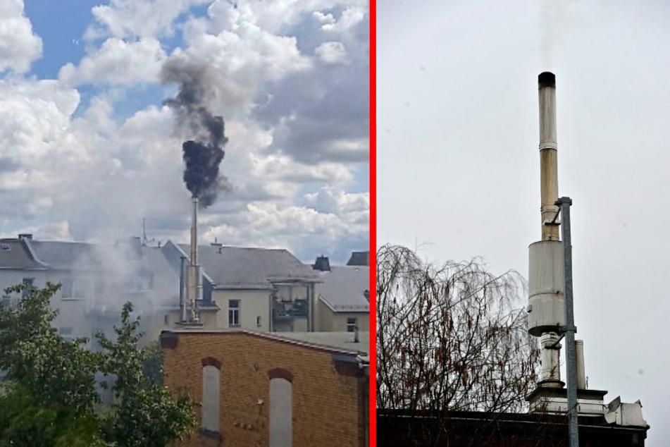 Das Blockheizkraftwerk am Tauchturm macht ordentlich Qualm. Die Heizungsanlage wird mit Palm- und Rapsöl betrieben.