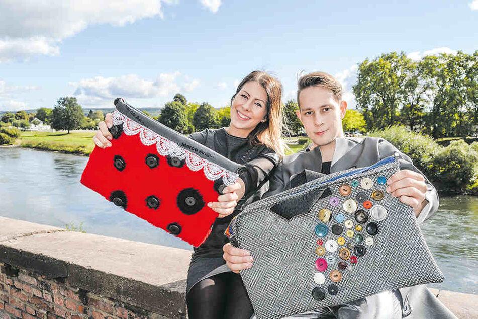 Lana Vandieken und Marco Heiser werden bei der Fashion-Show neben Handtaschen auch Kleidung präsentieren.