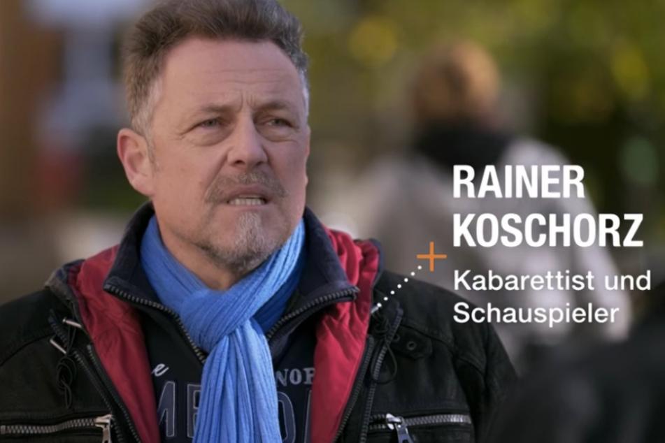 """Auch Rainer Koschorz (58, Kabarettist der """"Leipziger Pfeffermühle"""") erklärt seine Corona-Skepsis."""