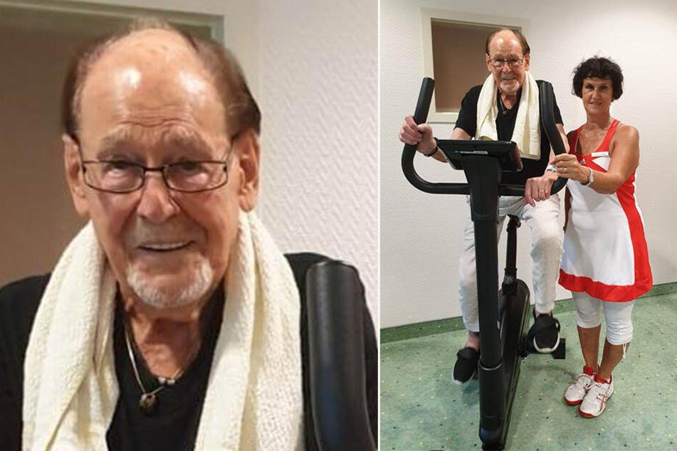 Volksschauspieler Herbert Köfer (98) war zuletzt zur Fitnesskur auch auf dem Heimtrainer aktiv.