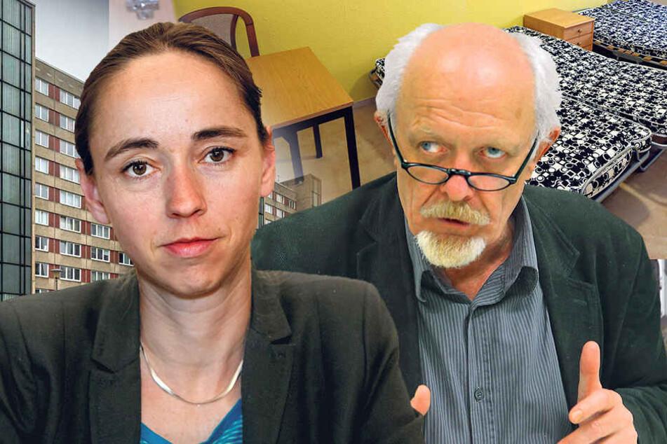 Kristin Kaufmann will, dass die Flüchtlinge die vollen Kosten selbst bezahlen. Michael Schmelich findet das ungerecht.