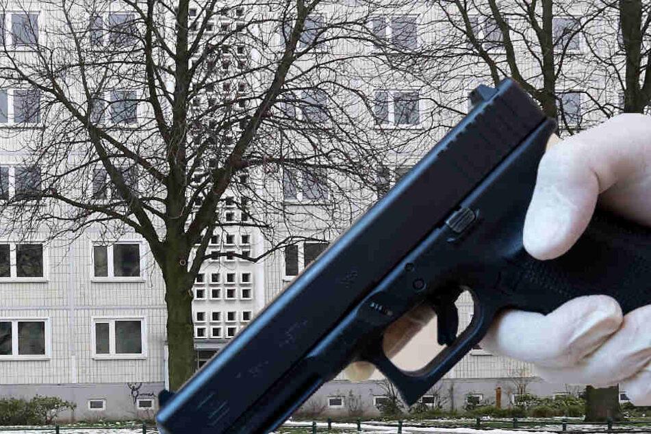 Schock: Mann schießt mit Pistole in Plattenbausiedlung wild um sich
