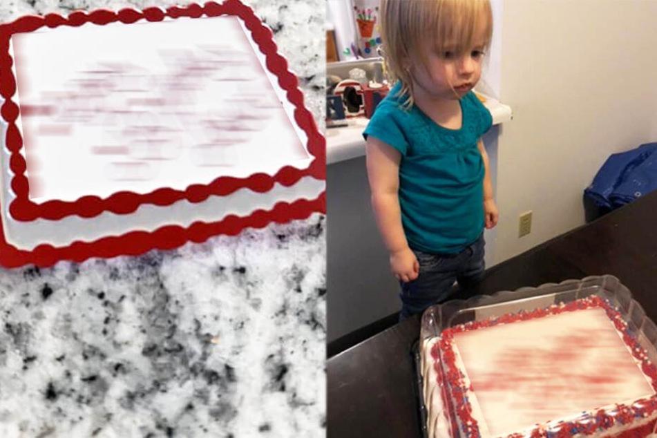 Mutter kann nicht fassen, was mit dem Kuchen ihrer Tochter (2) passiert ist