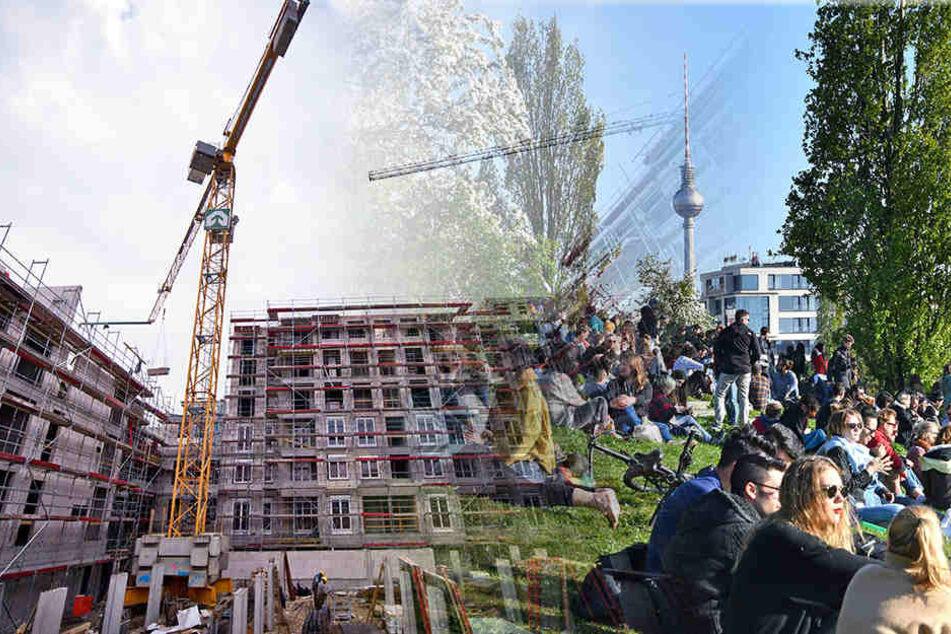 Berlin und Umgebung wird immer beliebter. Aber die Nachfrage ist so groß, dass der Wohnungsbedarf nicht jedem gerecht werden kann. (Bildmontage)