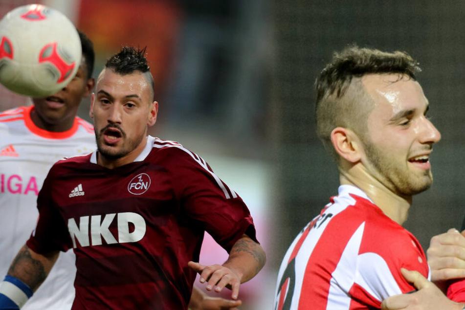 Timo Gebhart (l.) und Okan Aydin (r.) spielen künftig für den FC Viktoria Berlin.
