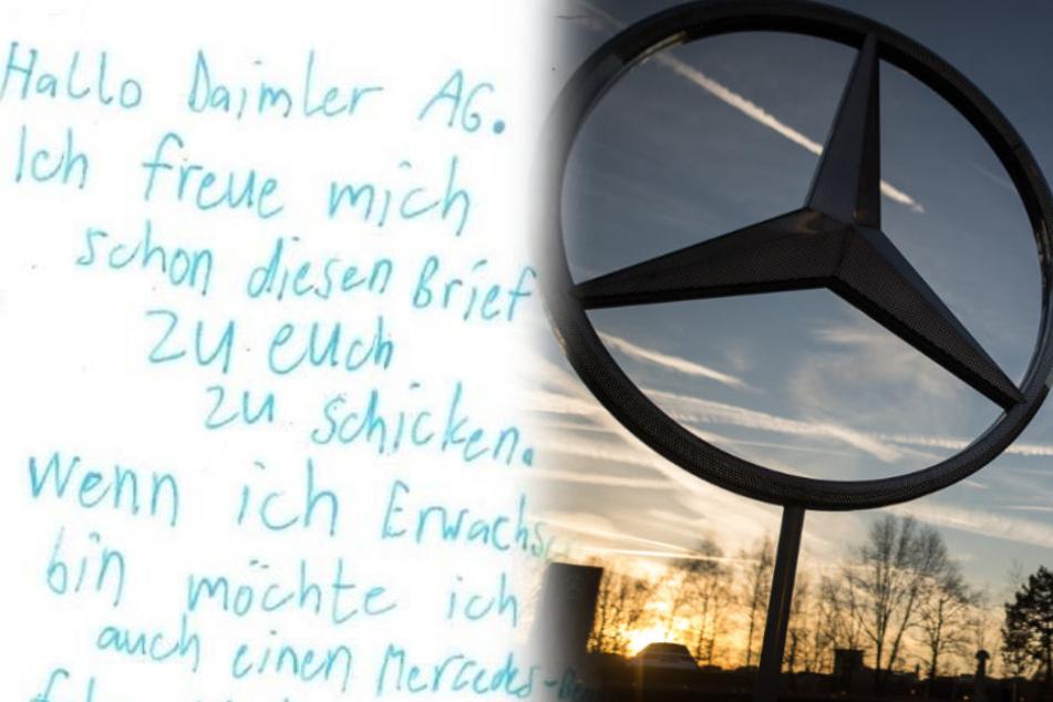 Junge schickt süße Karte an Mercedes! Dann suchte die Daimler AG den Kleinen