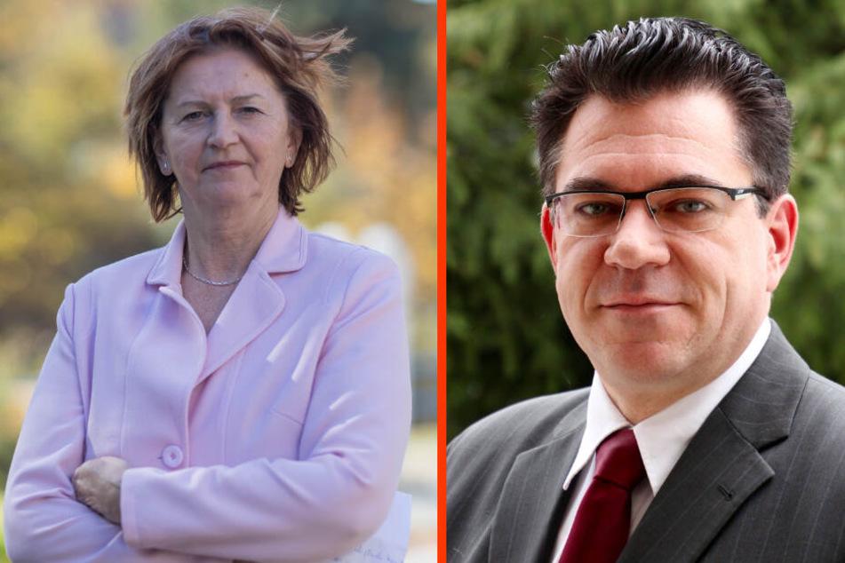 Heidrun Hiemer (67) legt ihr Amt als Oberbürgermeisterin von Schwarzenberg nieder. Er möchte neuer Stadtchef werden: Ruben Gehart (48, CDU).