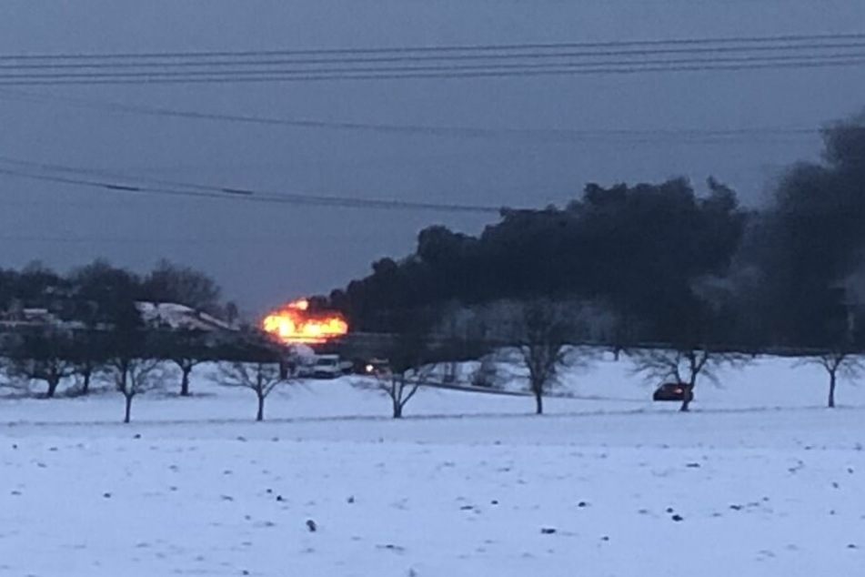 Das Feuer war von Weitem zu sehen.