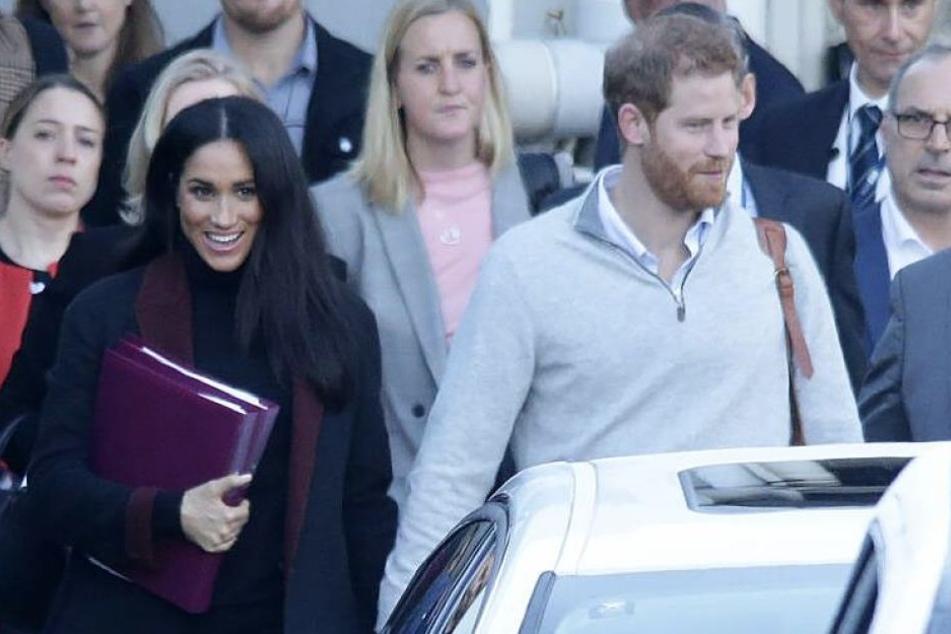 Meghan und Harry am Montag in Sydney, wo sie ihre Herbsttour durch einige Pazifik-Staaten starteten.