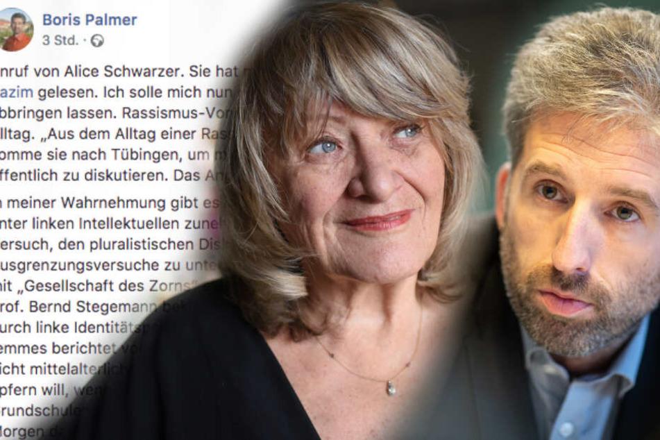 Zwei mit Haltung: Alice Schwarzer will Boris Palmer besuchen