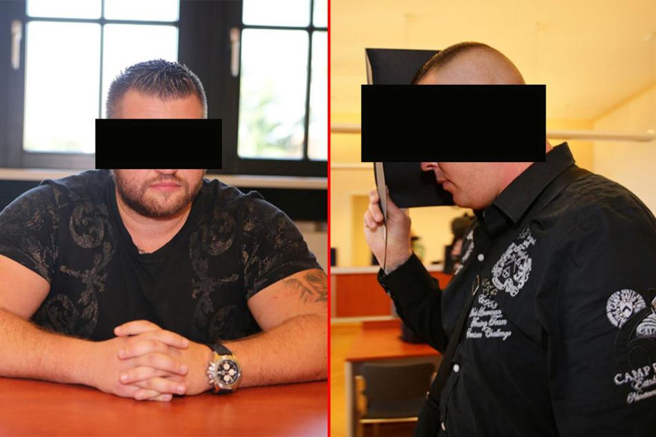 Roman W. (l.) und Thomas K. sollen in der Nacht zum 24. November 2015 einen Anschlag auf die Wohnung von Sachsens Justizminister Sebastian Gemkow verübt haben.