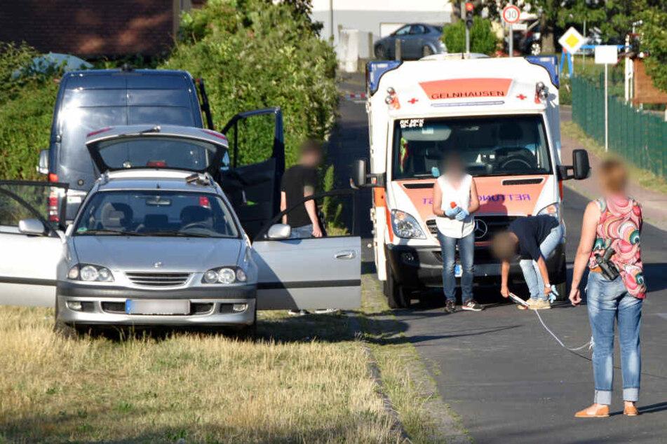 Das Foto zeigt den Wagen des 55-Jährigen, der sich selbst in seinem Auto erschoss.