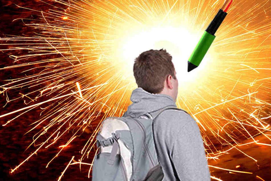 Auf einmal fiel dem 15-Jährigen eine Rakete auf den Kopf. (Symbolbild)