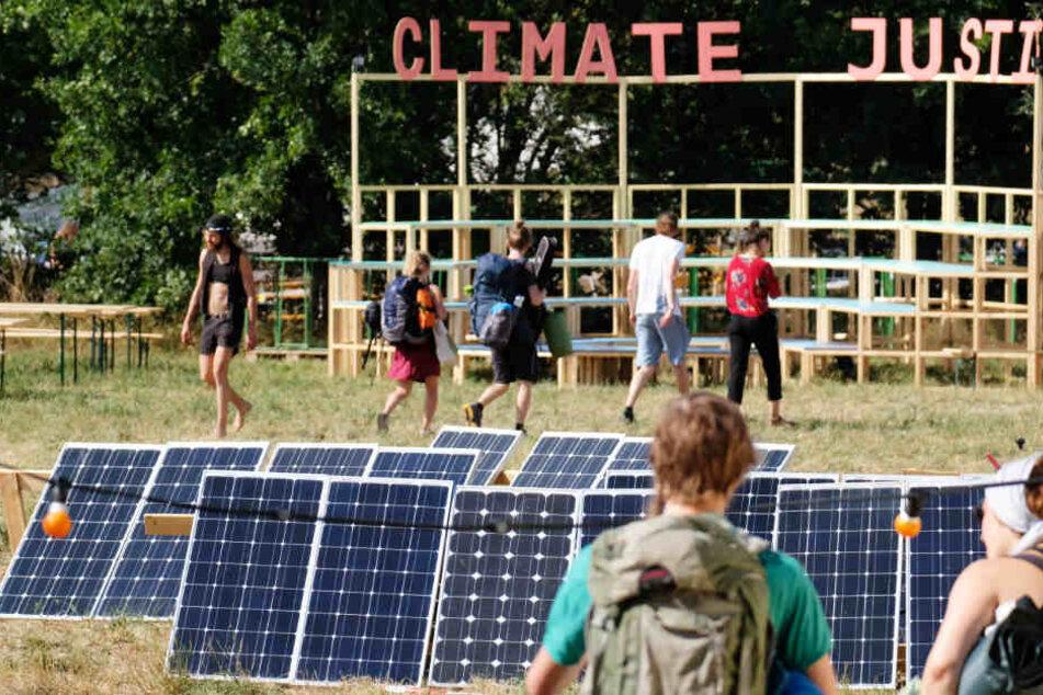 Seit mehreren Tagen läuft das Klimacamp Leipziger Land in Pödelwitz.