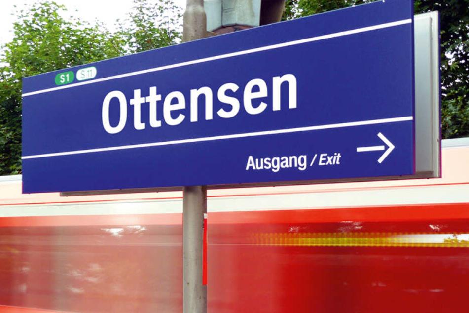Hier hat die deutsche Bahn dargestellt wie das neue Haltestellenschild der Haltestelle Hamburg-Ottensen aussehen könnte.