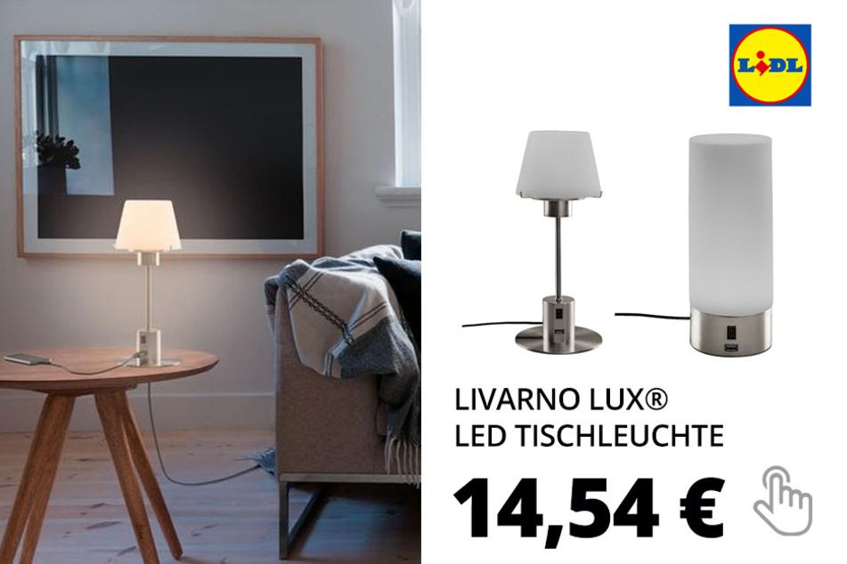 LIVARNO LUX® LED Tischleuchte, mit USB-Anschluss