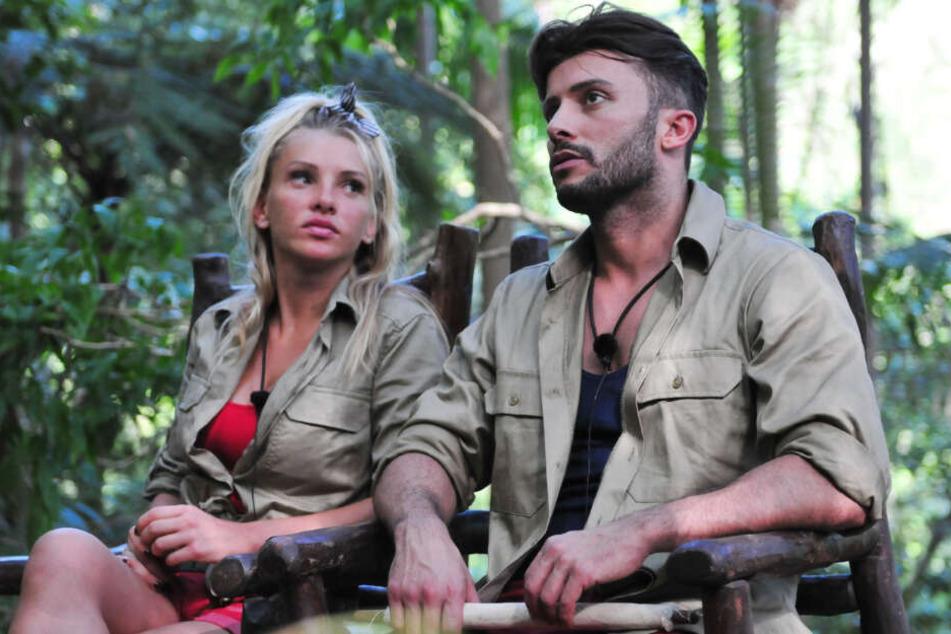 Domenico mit seiner Ex-Freundin Evelyn Burdecki im Dschungel.