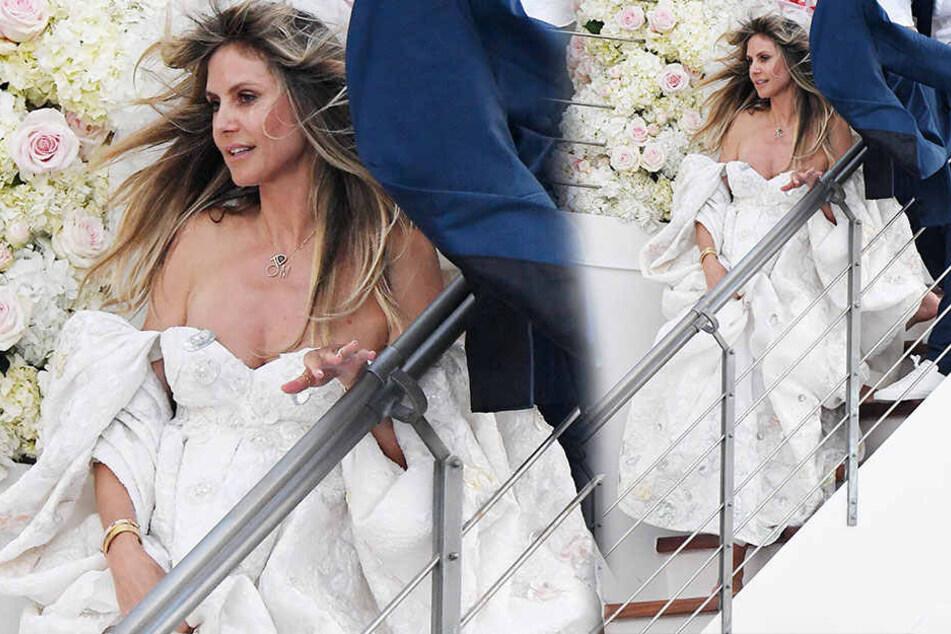 Heidi Klum in ihrem Brautkleid.
