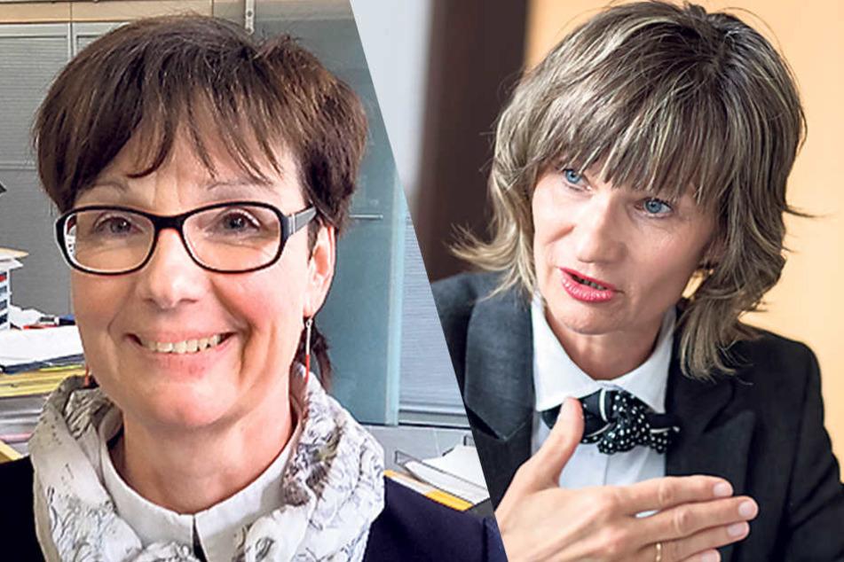 Jugendamtsleiterin Gunda Georgi (52, li.) und Oberbürgermeisterin Barbara Ludwig (56, SPD).
