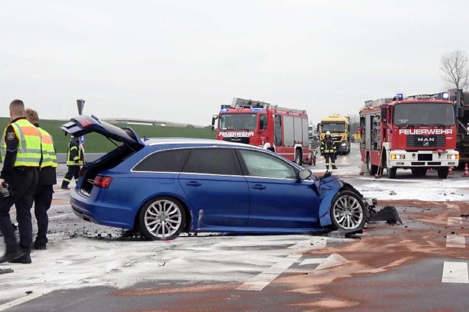 Auch auf der Umleitung kam es am Donnerstagvormittag zu einem schweren Unfall.