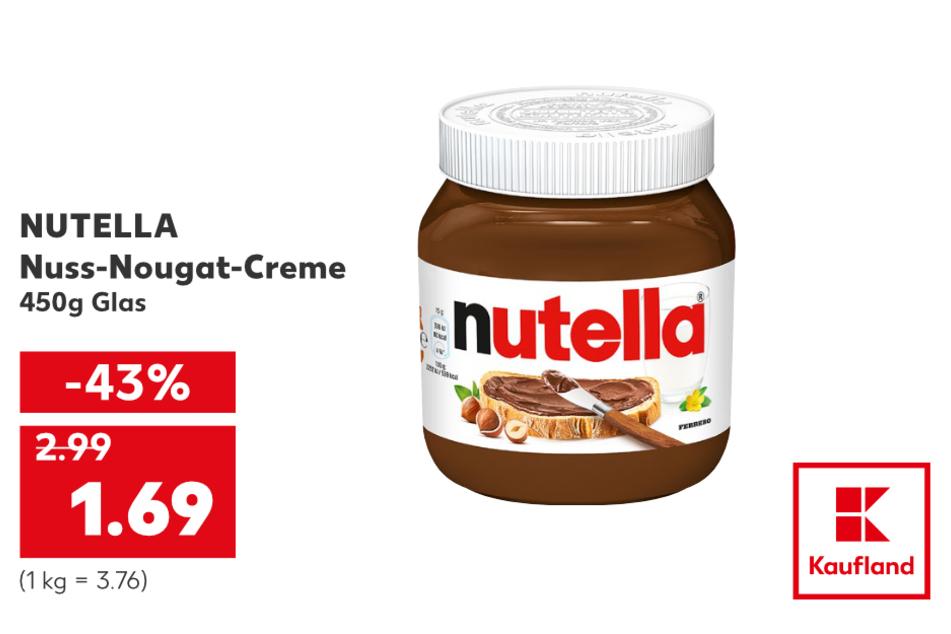 Nutella für nur 1,69 Euro.