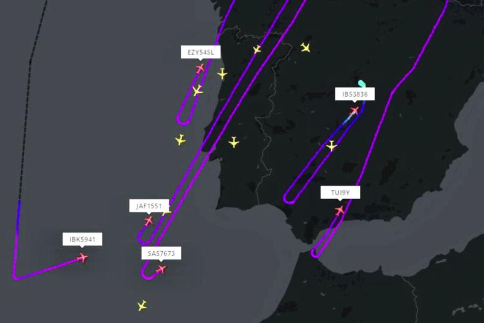 Flüge mussten reihenweise umdrehen und woanders in Europa landen.