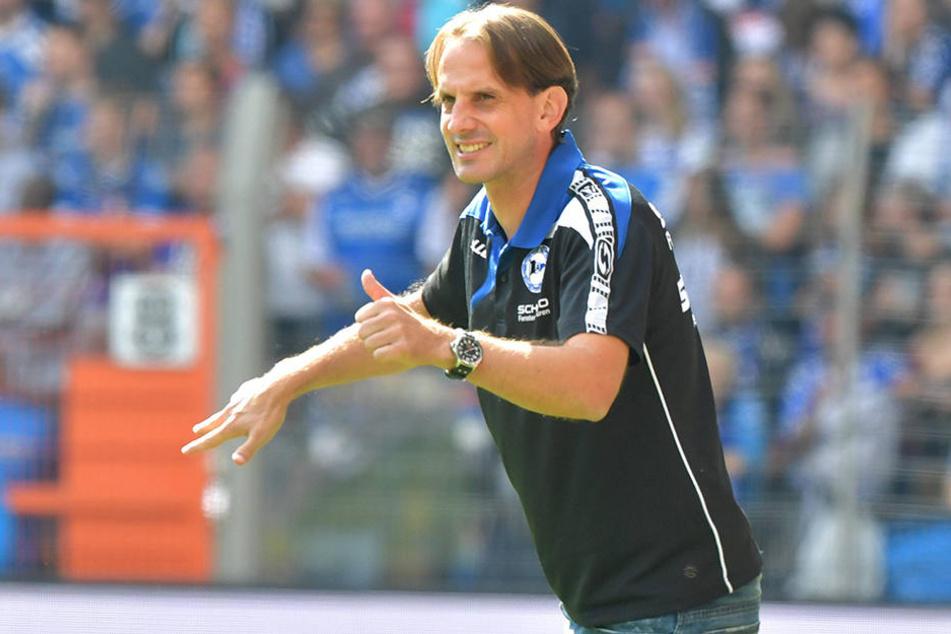 Nun ist Trainer Rüdiger Rehm gefragt: Der erste Saisonsieg soll her.