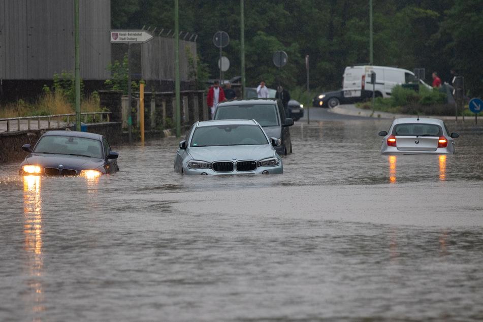 Auch in Solingen hatte es extrem viel Regen in kurzer Zeit gegeben. Teile der Stadt wurden überflutet.