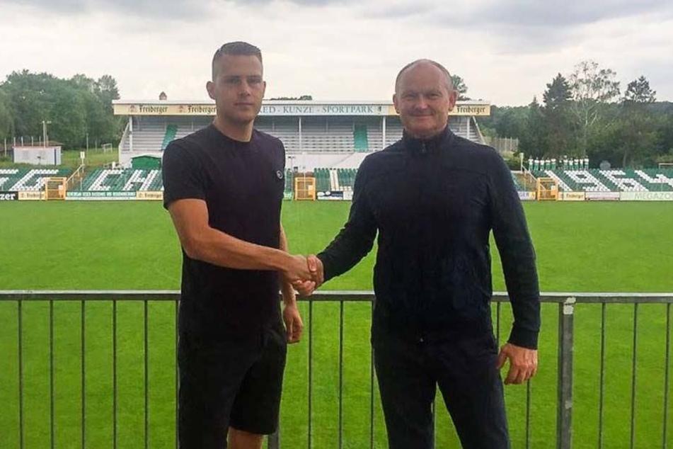 Sebastian Hey (links) freut sich schon auf die Atmosphäre im Alfred-Kunze-Sportpark.