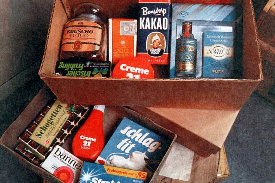 Echt Kölnisch Wasser, Seife, Schokolade und Kaffee durften in keinem Westpaket fehlen.