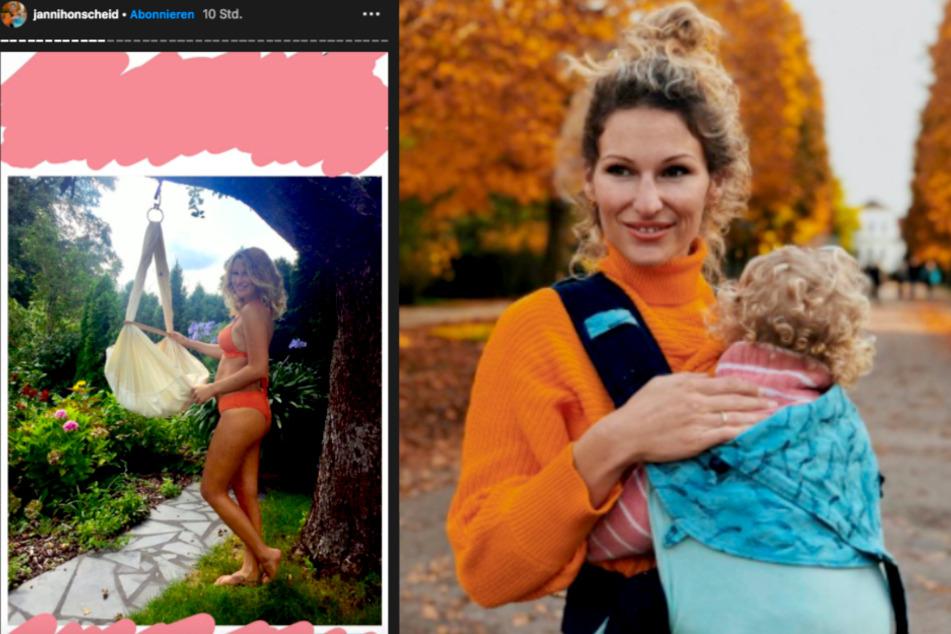 Janni Hönscheid (30) hat sich nach der Geburt ihres ersten Kindes alles andere als wohl in ihrer Haut gefühlt.