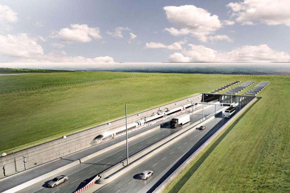 So soll der Fehmarnbelt-Tunnel aussehen, wenn er fertig ist.