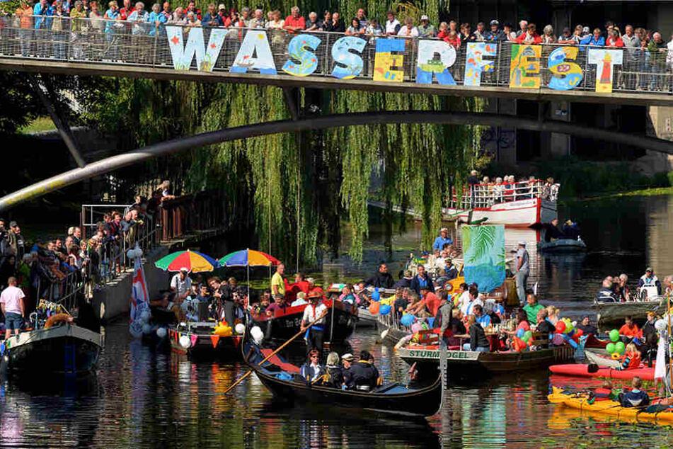 """Schon zum 9. Mal findet am """"Bagger"""" in Thekla das Wasserfest statt."""