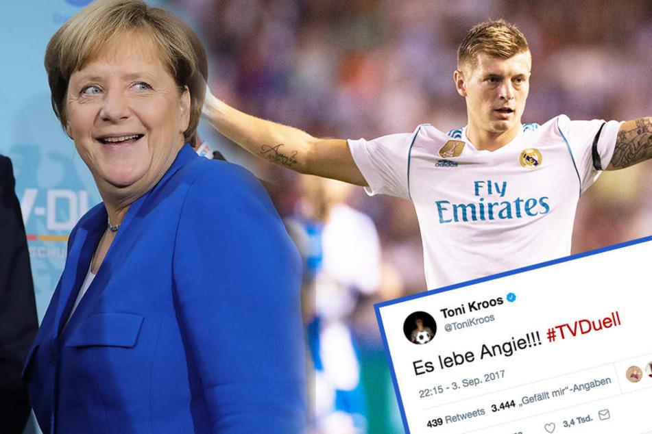 """""""Es lebe Angie!!"""" Fußballstar Kroos sorgt mit Merkel-Tweet für Wirbel"""