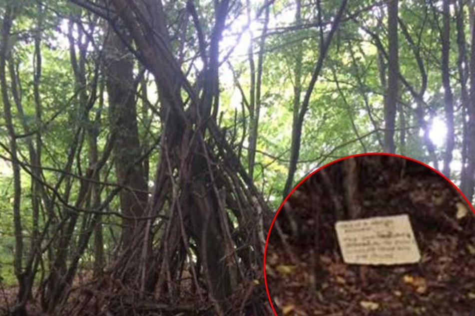 Vater findet Zettel im Wald und wird stinksauer