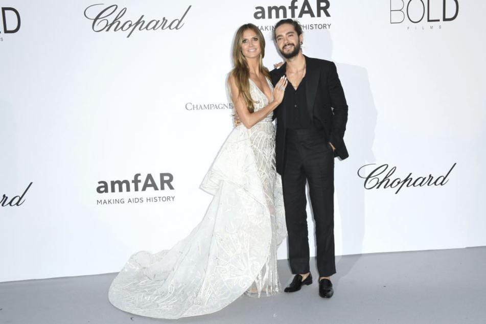 Heidi Klum und Tom Kaulitz strahlten, was das Zeug hält.
