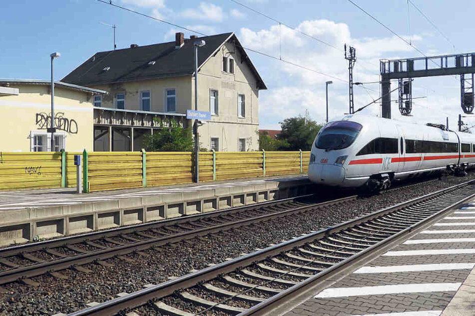 Der Bahnhof in Dahlen - von hier aus wollte Rondk Ende August nach Wurzen fahren.