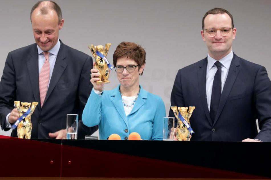 Friedrich Merz, Annegret Kramp-Karrenbauer und Jens Spahn (v.l.n.r.) sind im Wettstreit.