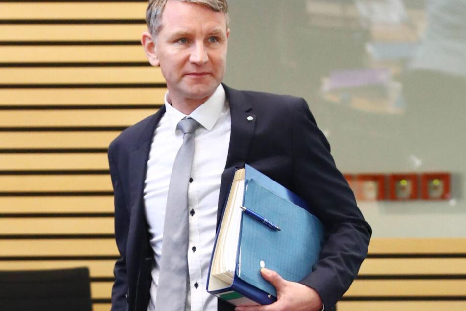 Björn Höcke im Thüringer Landtag bei einer Sitzung in dieser Woche.