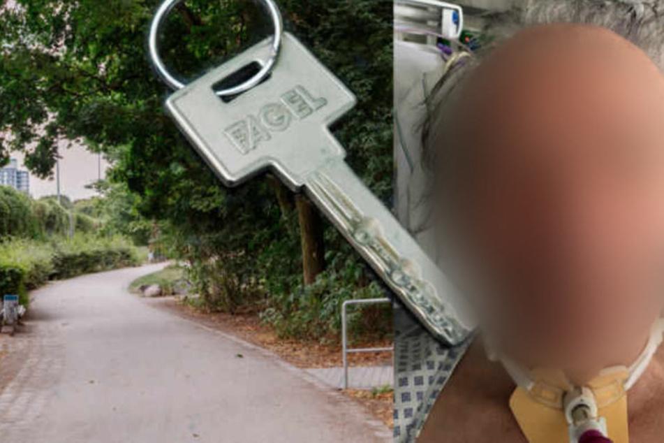Sein Nachbar erkannte den Schlüssel.