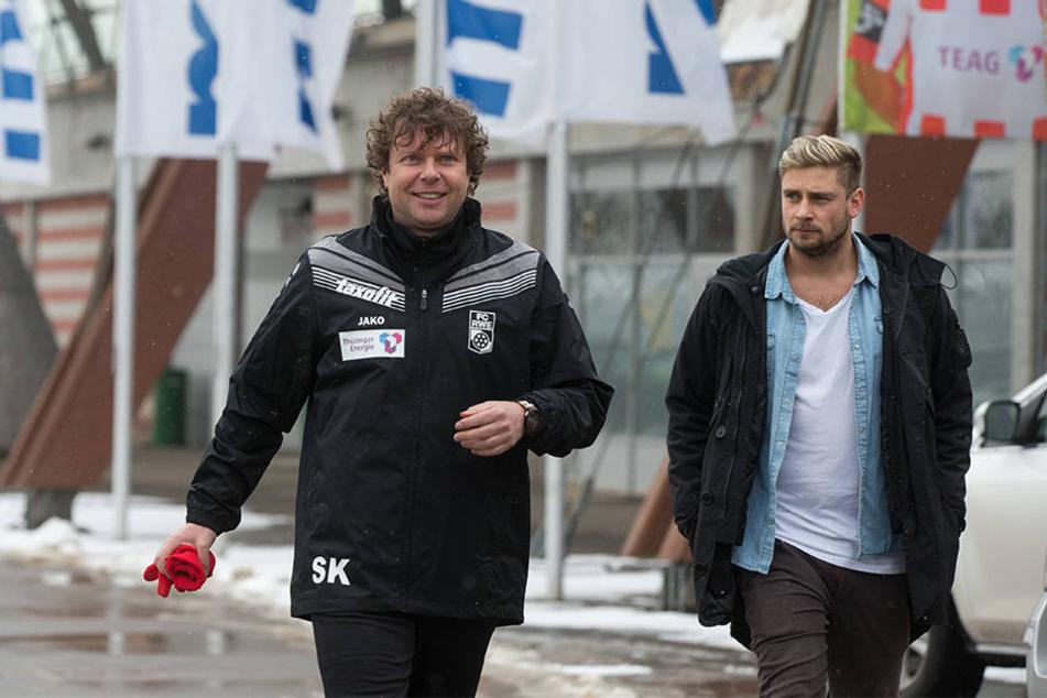 Kommen zurück nach OWL: Ex-Arminia Trainer Stefan Krämer (li.) und ehemaliger SCP-Profi Tom Bertram.