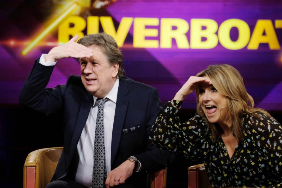 """Jörg Kachelmann (60) und Kim Fisher moderieren die MDR-Talkshow """"Riverboat"""" nun wöchentlich gemeinsam."""