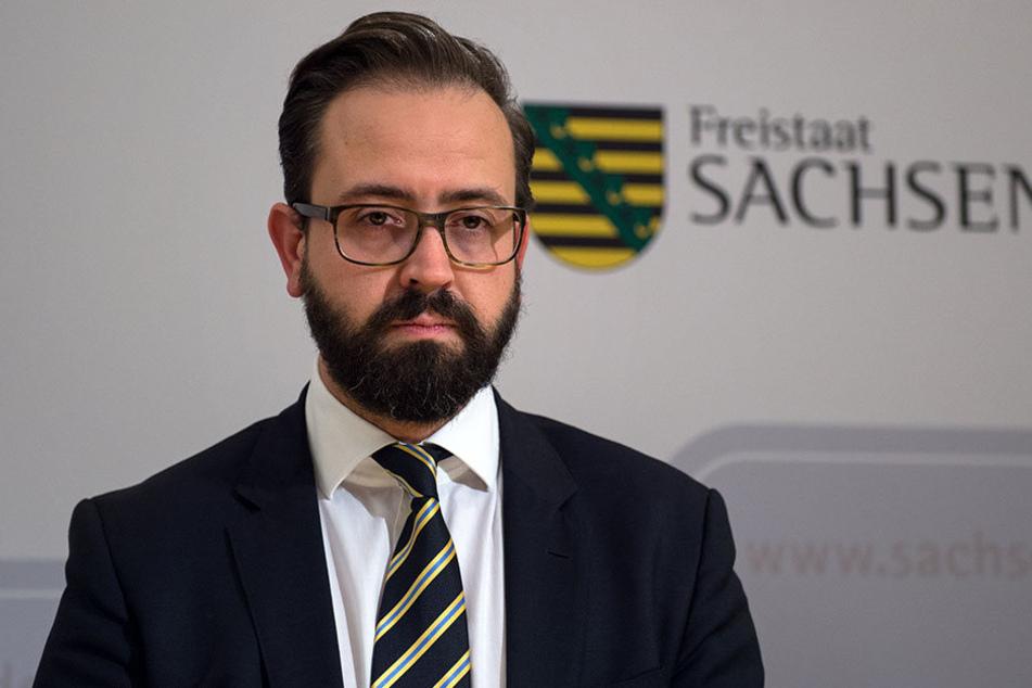 Justizminister Sebastian Gemkow trat trotz der Kritik nicht von seinem Amt zurück.